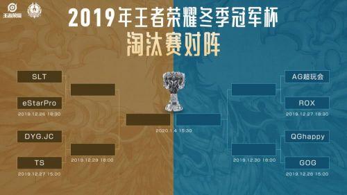 王者荣耀冬季冠军杯12月26日淘汰赛比赛时间赛程一览