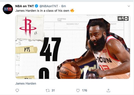 哈登47分,哈登狂砍47分,哈登暴走