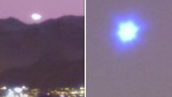 赌城上空划过火球,目击者记录下蓝色不明发光飞行物