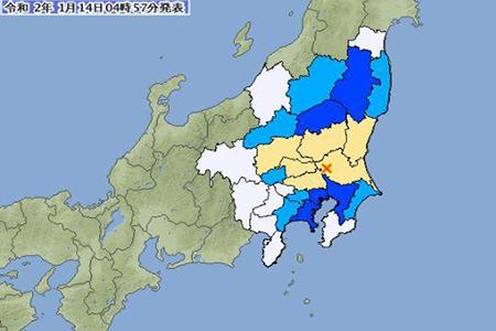日本地震最新新闻消息 日本茨城县南部发生里氏5级地震