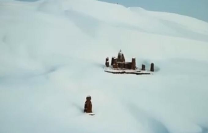"""沙漠变""""雪海"""",库木塔格沙漠,库木塔格沙漠变雪海"""