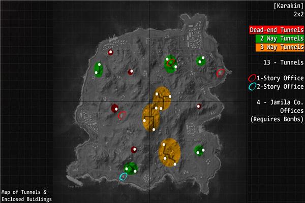 绝地求生新地图卡拉金哪里资源多_绝地求生新地图卡拉金资源分布一览
