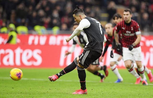 C罗点球绝平,意大利杯,尤文图斯打AC米兰