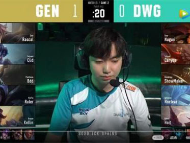 2020LCK春季赛常规赛DWG vs GEN比赛回顾