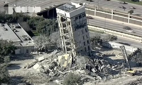 美国大楼爆破失败,意外成新网红景点