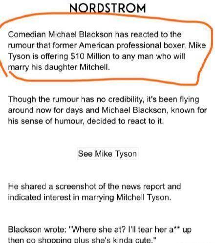 泰森为女征婚,泰森1000万美金为300斤女儿征婚,泰森女儿