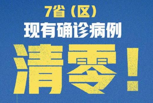 7省区确诊病例清零,湖北新增确诊仅4例