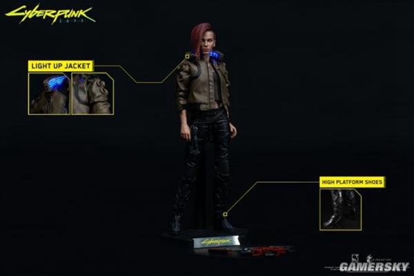 赛博朋克2077:女性主角1/6手办 细节满分折合人民币约1628元