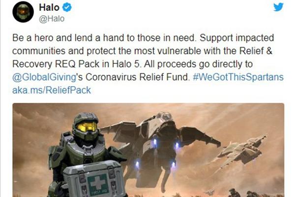 微软推出光环5援助疫情DLC包 将捐赠全部收益