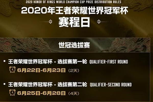2020王者荣耀职业联赛世界赛冠军杯赛程公布_冠军杯第一名花落谁家