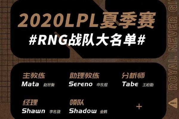 2020lpl夏季赛赛程RNG夏季赛大名单公布Uzi不在名单内_难道是退役了吗