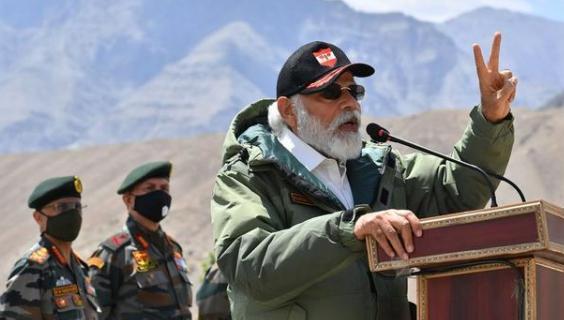 莫迪抵中印边境演讲,再度向中国发出挑衅信号