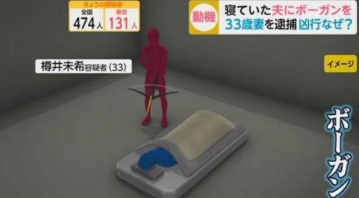 日本女子因失业试图射杀熟睡中丈夫,失败后改用刀砍
