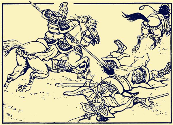 庞德,关羽,马超,许褚