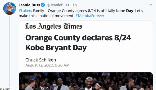 科比日,美国宣布8月24定为科比日,科比日是什么时候