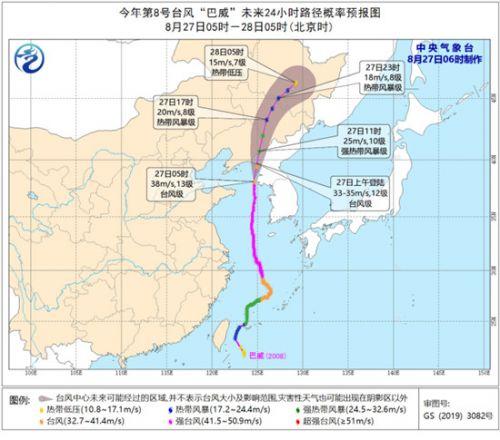 2020年首个台风红色预警发布 台风巴威平均风速达到每秒45米