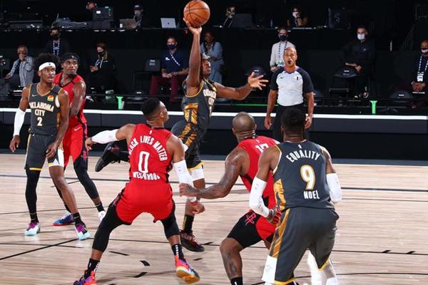 2020年NBA季后赛雷霆VS火箭威少失误频繁 助攻雷霆抢7险胜