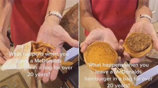 麦当劳汉堡薯条藏鞋盒24年不坏,这其中藏了什么玄机?