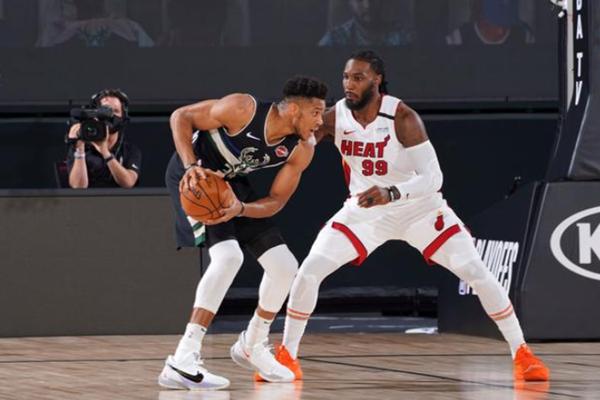 2020年NBA季后赛,热火队VS雄鹿队,NBA季后赛,巴特勒罚球绝杀