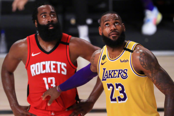 2020年NBA季后赛火箭VS湖人哈登20个罚球拿到21分! 火箭100-110不敌湖人
