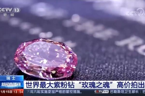 世界最大紫粉钻石卖出1.76亿元,世界最大紫粉钻石,紫粉钻石