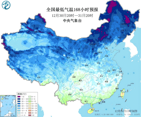 跨年寒潮将速冻全国,气温零度线直逼广东