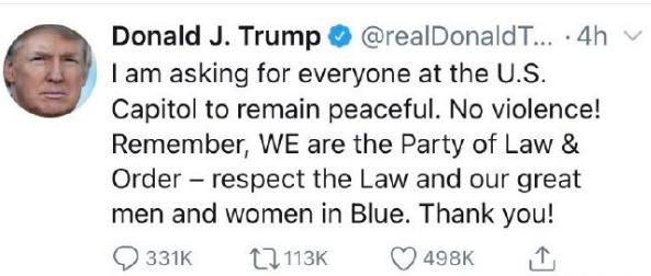 特朗普被推特禁言12小时,若再违规将被永久封禁