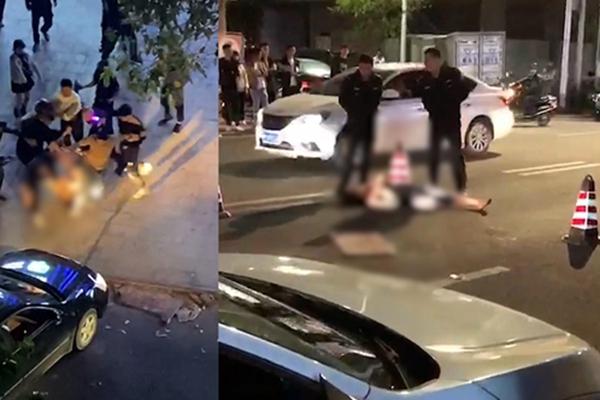 男子被围殴后遭轿车碾压,男子遭轿车碾压致死