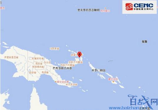 新不列颠岛地震,新不列颠岛7.6级地震,新不列颠岛