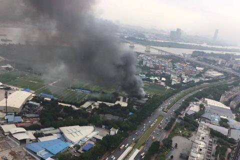 广州地铁附近火灾,广州地铁,万胜围地铁站