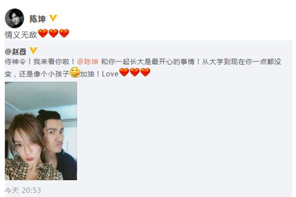 赵薇晒与陈坤自拍照却被骂惨,赵薇,陈坤,致青春