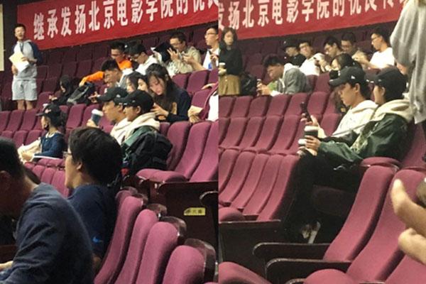 网友北电偶遇吴磊关晓彤上课,影,张艺谋,北电,吴磊,关晓彤