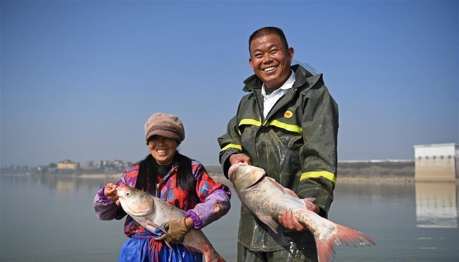 人欢鱼跃冬捕忙