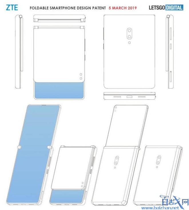 中兴可折叠手机,中兴手机,可折叠手机