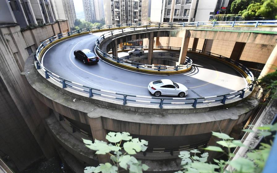 重庆旋转车道,重庆,旋转车道
