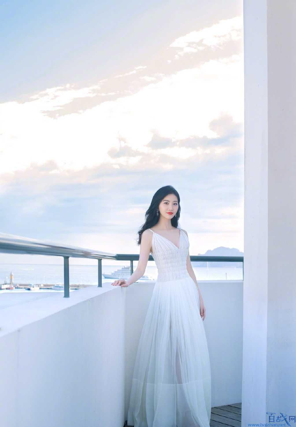 景甜白色纱裙,景甜纱裙,景甜戛纳电影节
