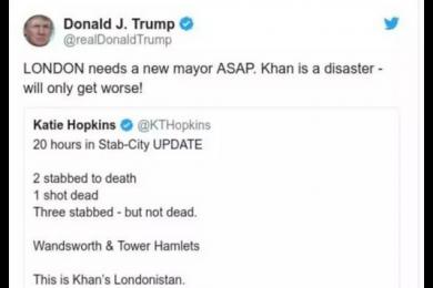 一天之内发生5次袭击事件,特朗普推特炮轰伦敦市长萨迪克汗