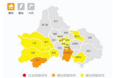 成都发布暴雨黄色预警,南方部分地区将再迎来强降雨