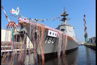 """日本第2艘万吨大驱下水,日本海军将进入""""下饺子""""时代"""