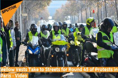 """巴黎出动7000警察是怎么回事? 法国""""黄背心""""示威者再度上街游行"""